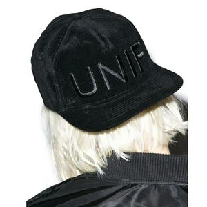 ⚡SALE⚡ UNIF Logo Velvet Embroidered Snapback Hat